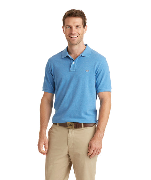 Vineyard Vines Stretch Pique Polo-Dockside Blue