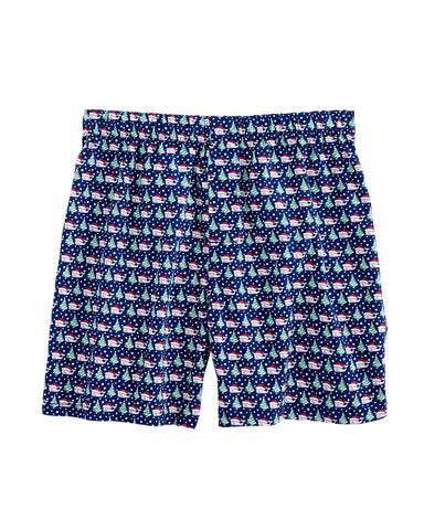 Vineyard Vines Santa and Tree Christmas Boxer Shorts -Shop Bennetts Clothing for the best in name brand menswear with same day shipping
