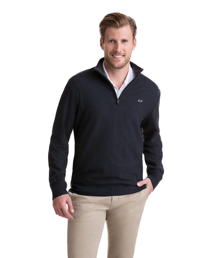 Mens Vineyard Vines Reverse Oxford 1/4 Zip Pullover -Shop Bennetts Clothing for the latest in mens fashion with same day shipping