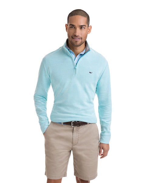 Vineyard Vines Reverse Oxford 1/4 Zip Pullover -Shop Bennetts Clothing for the latest in mens fashion with same day shipping