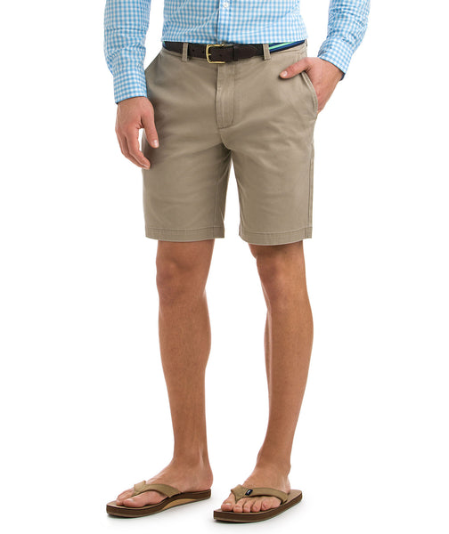"Vineyard Vines Mens 9"" Stretch Breaker Short-Khaki"