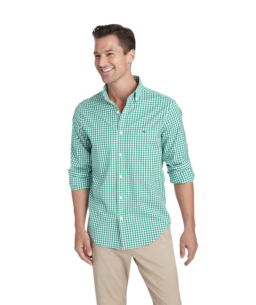 Vineyard Vines Carleton Gingham Sport Shirt is sure to jazz up your wardrobe. Shop Bennetts Clothing for a large selection of the latest fashions from Vineyard Vines