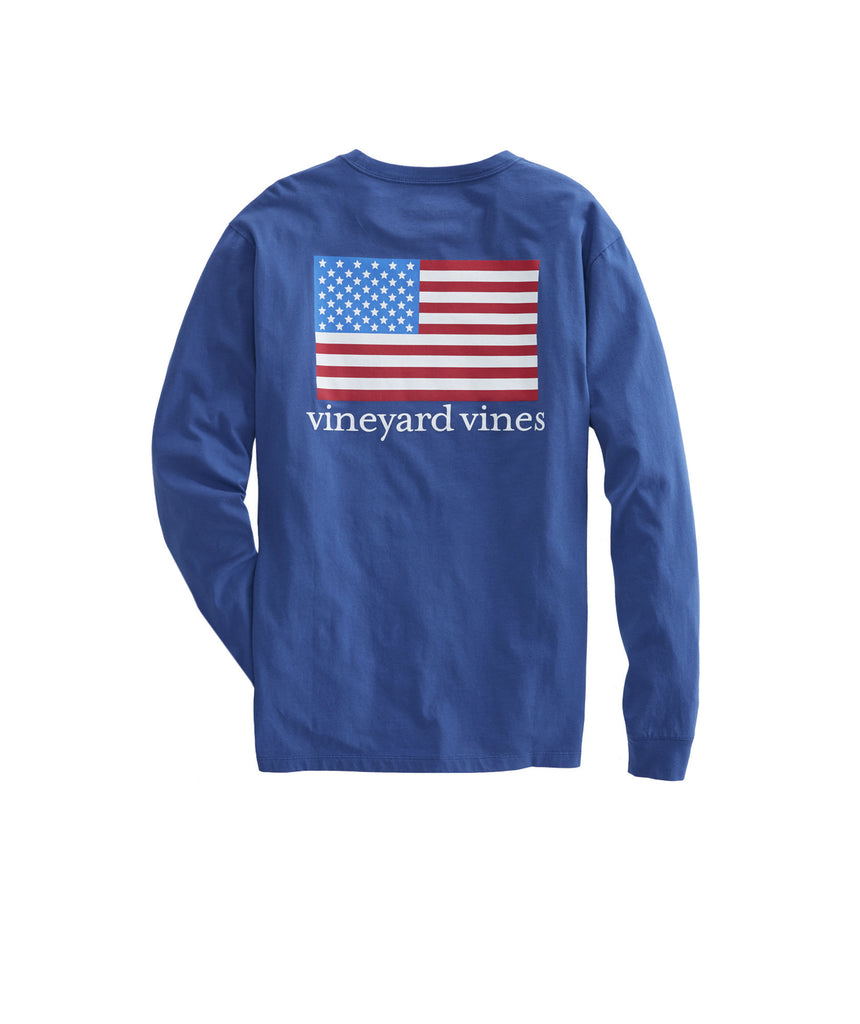 Vineyard Vines American Flag T-shirt -Shop Bennetts Clothing for the latest in classy mens fashion