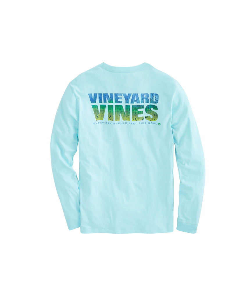 Vineyard Vines Mahi Textured graphic long sleeve T Shirt -Shop Bennetts Clothing for the best in name brand menswear with same day shipping