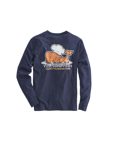 Vineyard Vines Thanksgiving Turkey Long Sleeve T-Shirt-