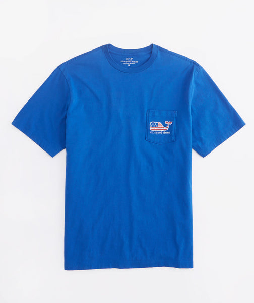 Vineyard Vines Flag Whale T-Shirt-Aviator Blue