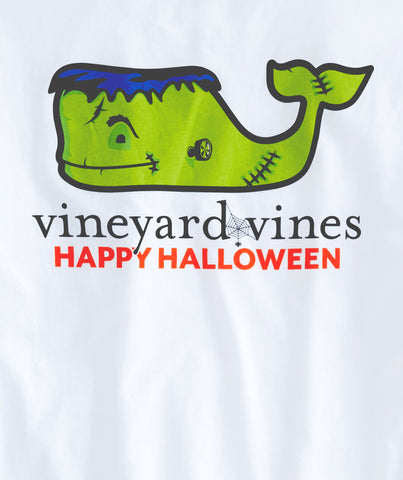 Vineyard Vines Long-Sleeve Frankenstein Pocket T-Shirt-White Cap