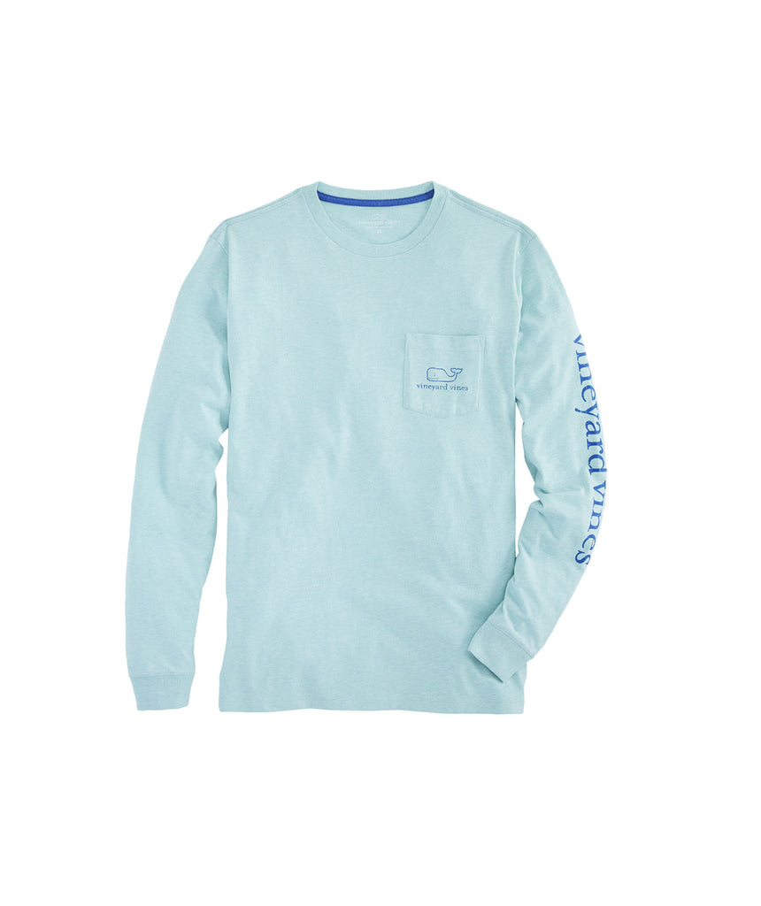 8c985e4664 Vineyard Vines Heather Vintage Whale Long Sleeve T-shirt-Capri Blue – Bennett's  Clothing