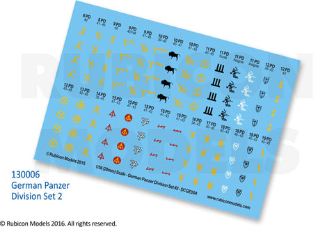 ~German Panzer Division Set 2 Decal Sheet