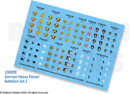 German Heavy Panzer Battalion Set 2 Decal Sheet