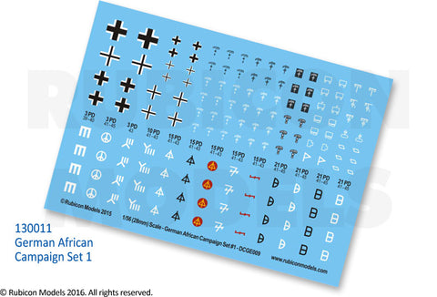 German African Campaign Set 1 Decal Sheet