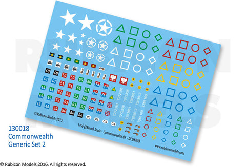 Commonwealth Generic Set 2 Decal Sheet