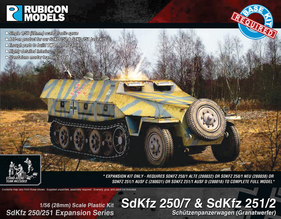 SdKfz 250/251 Expansion Set- SdKfz 250/7 & 251/2 Mortar Carrier