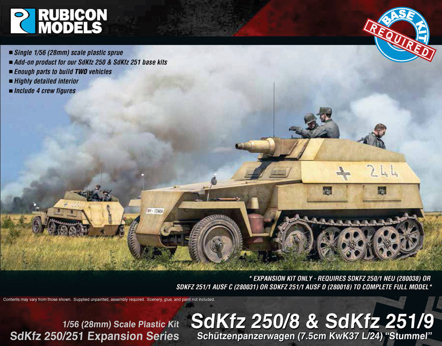 SdKfz 250/251 Expansion Set- SdKfz 250/8 & 251/9 Stummel