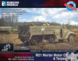 M21 Mortar Motor Carriage or M3/M3A1 with Tarpaulin Set Bundle Special: 280027+280053
