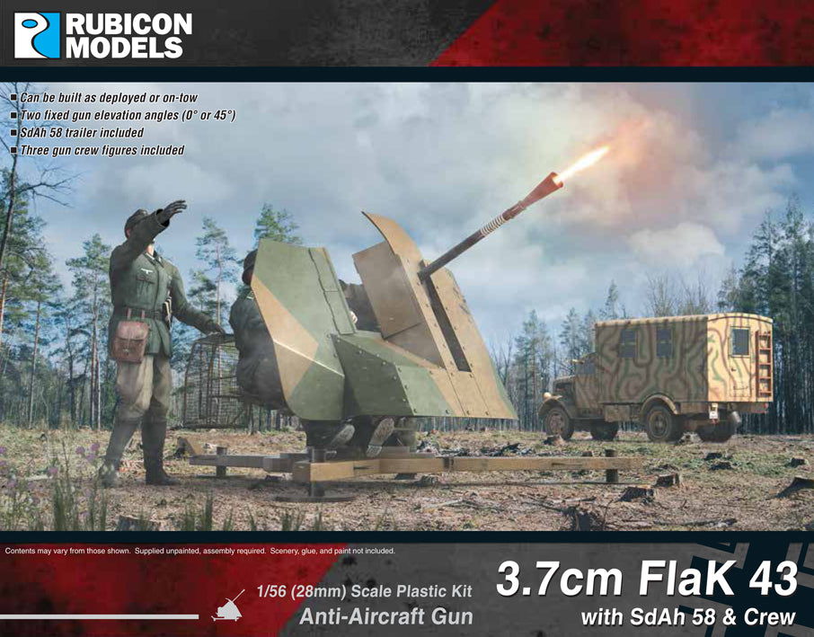 3.7cm FlaK 43 with SdAh 58 Trailer & Crew- Buy 2 Get 1 Free Bundle Special
