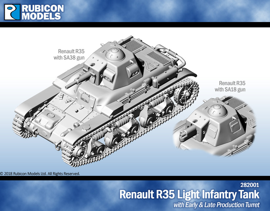 Renault R35 Light Infantry Tank- Resin