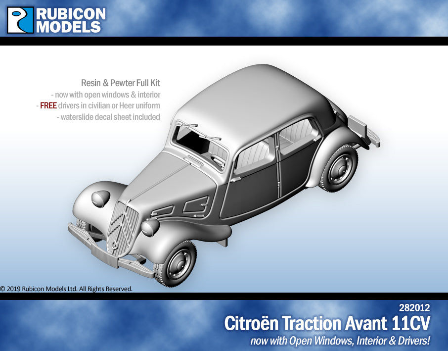 Citroën Traction Avant 11CV with Interior- Resin