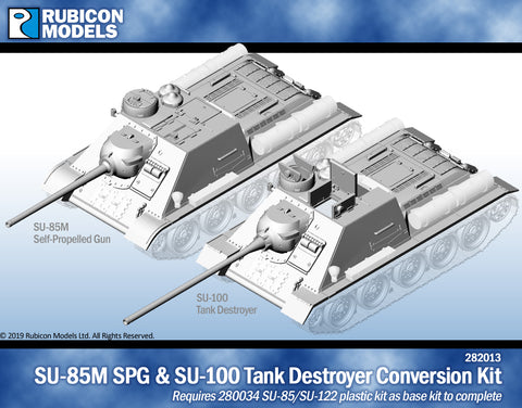 SU-85M SPG/SU-100 Tank Destroyer Conversion Kit- Resin