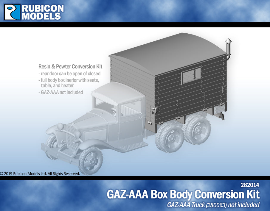 GAZ-AAA Box Body Upgrade Kit- Resin