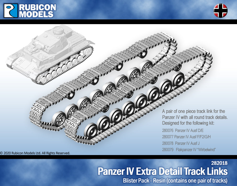 Panzer IV Extra Detail Track Links- Resin