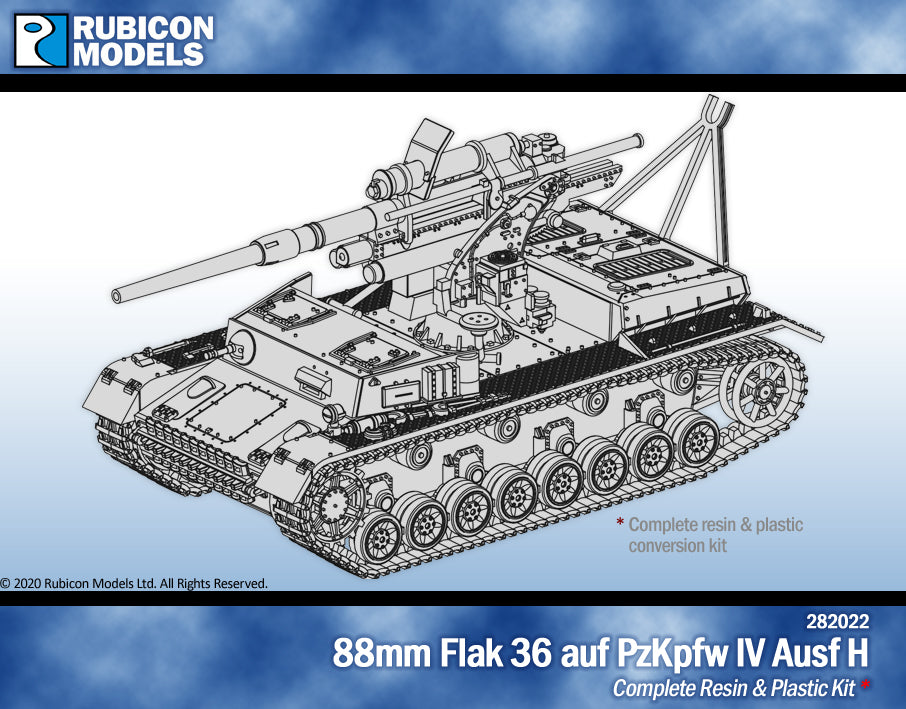 88mm Flak 36 auf PzKpfw IV Ausf H Kit- Resin