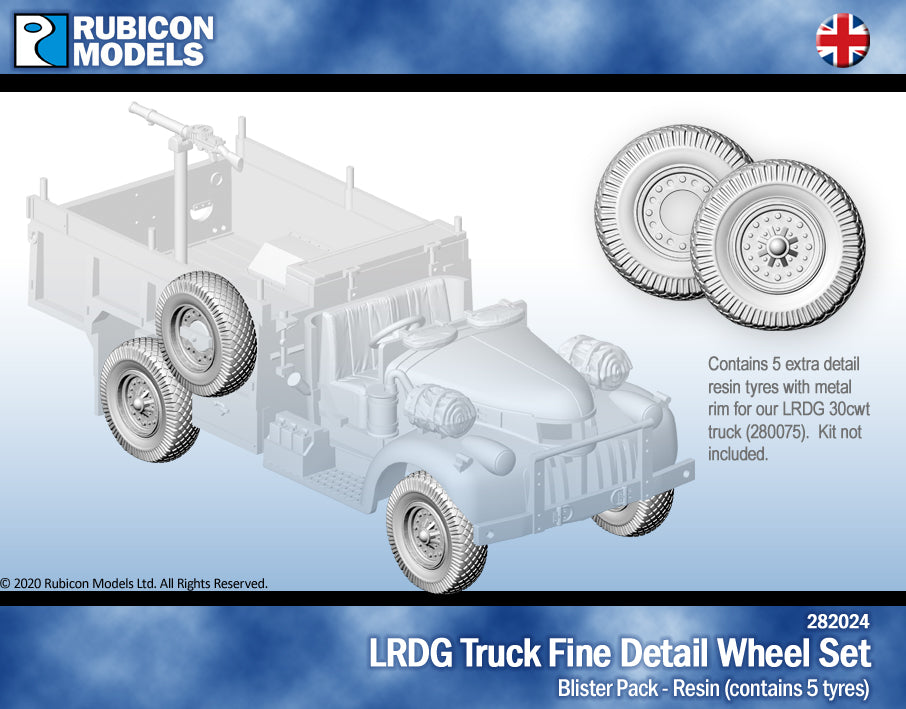 LRGD Truck Fine Detail Wheel Set- Resin