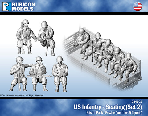 US Infantry - Sitting (Set 2)- Pewter