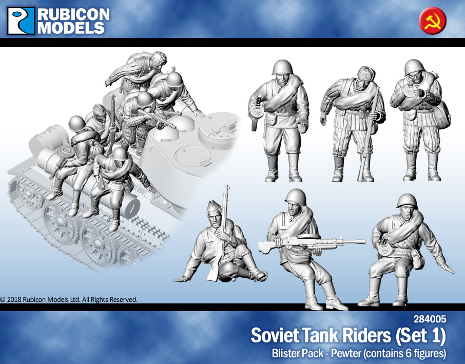 Soviet Tank Riders Set 1- Pewter