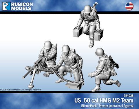 US .50 cal HMG M2 Team- Pewter