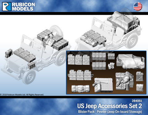 US Jeep Accessories Set 2: Jeep Onboard Stowage- Pewter