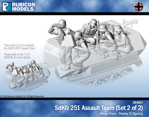 SdKfz251/1 Assault Team: Set 2 of 2- Pewter