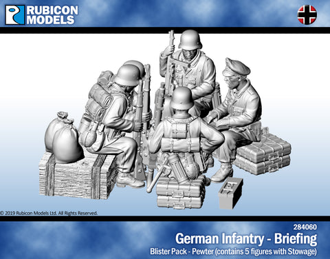 German Infantry Briefing- Pewter