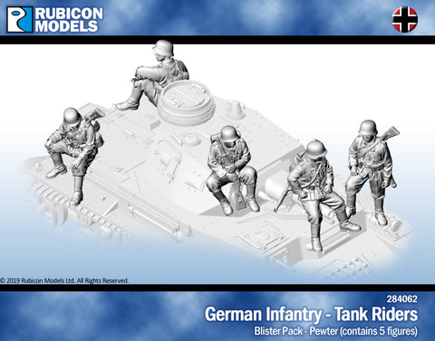 German Infantry Tank Riders- Pewter