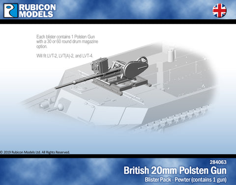 British 20mm Polsten Gun for LVT- Pewter