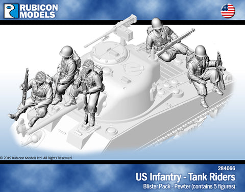 US Infantry Tank Riders- Pewter