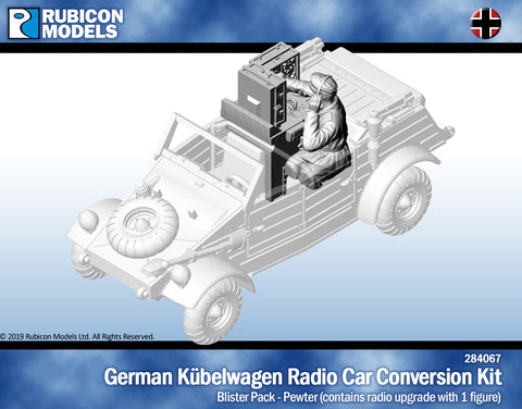 Kubelwagen Radio Car Conversion with Crew- Pewter