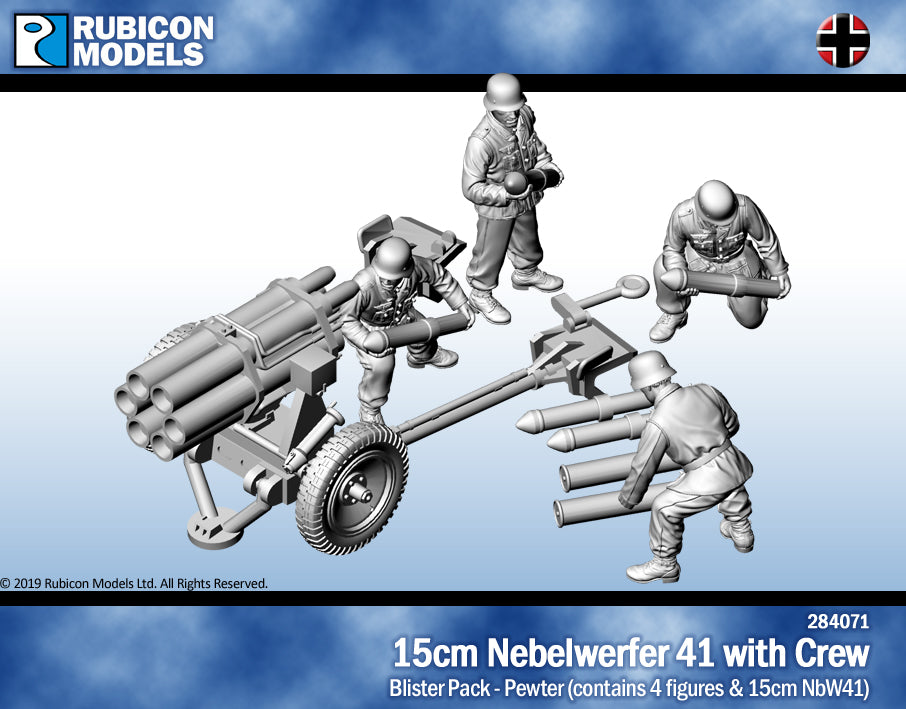 15cm Nebelwerfer 41 (15cm NbW41) with Crew- Pewter