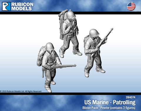US Marines Patrolling- Pewter