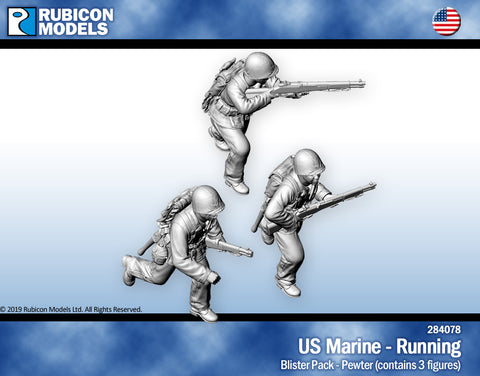 US Marines Running- Pewter