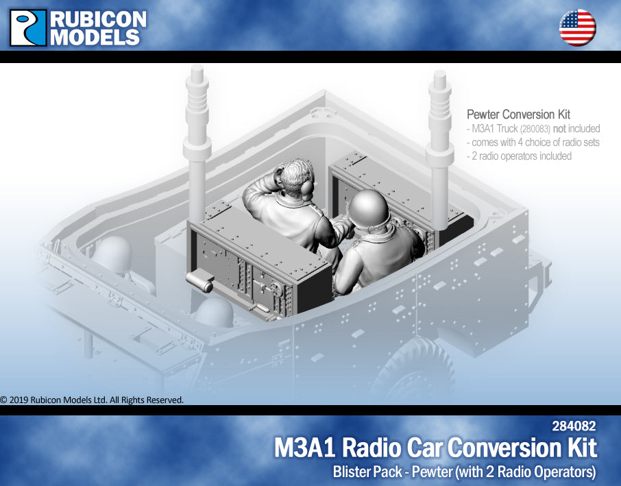 M3A1 Radio Car Conversion Kit with Crew- Pewter