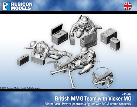 British Vickers Machine Gun Team- Pewter