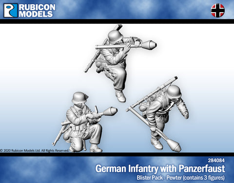 German Infantry with Panzerfaust- Pewter