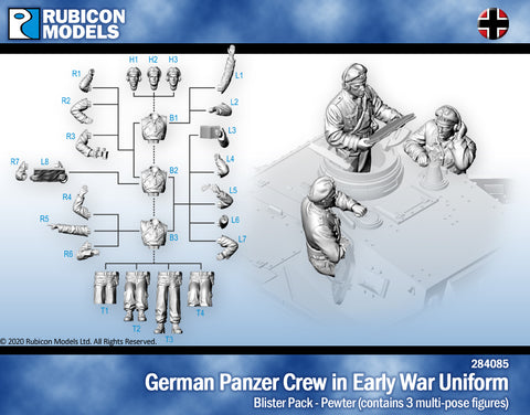 German Panzer Crew in Early War Uniform- Pewter