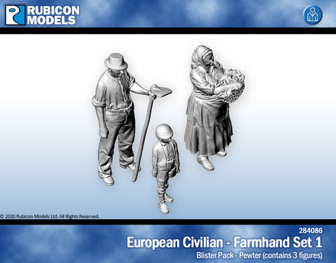 European Civilians Farmhand Set 1- Pewter