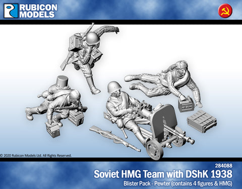 Soviet Heavy Machine Gun Team with DShK 1938 HMG- Pewter