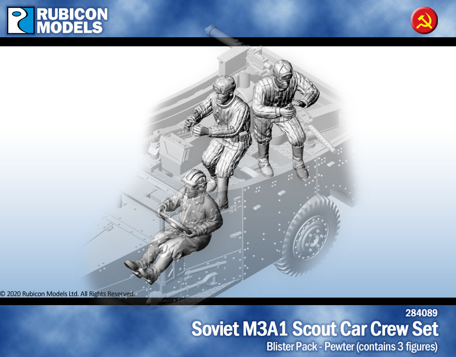 Soviet M3A1 Scout Car Crew- Pewter