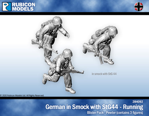 German in smock with StG44 Running- Pewter