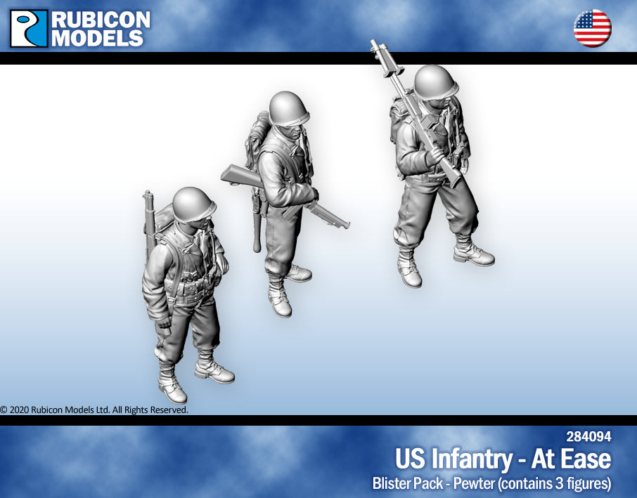 US Infantry At Ease- Pewter