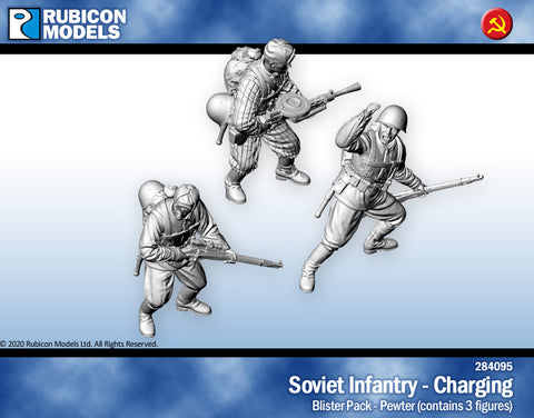 Soviet Infantry Charging- Pewter